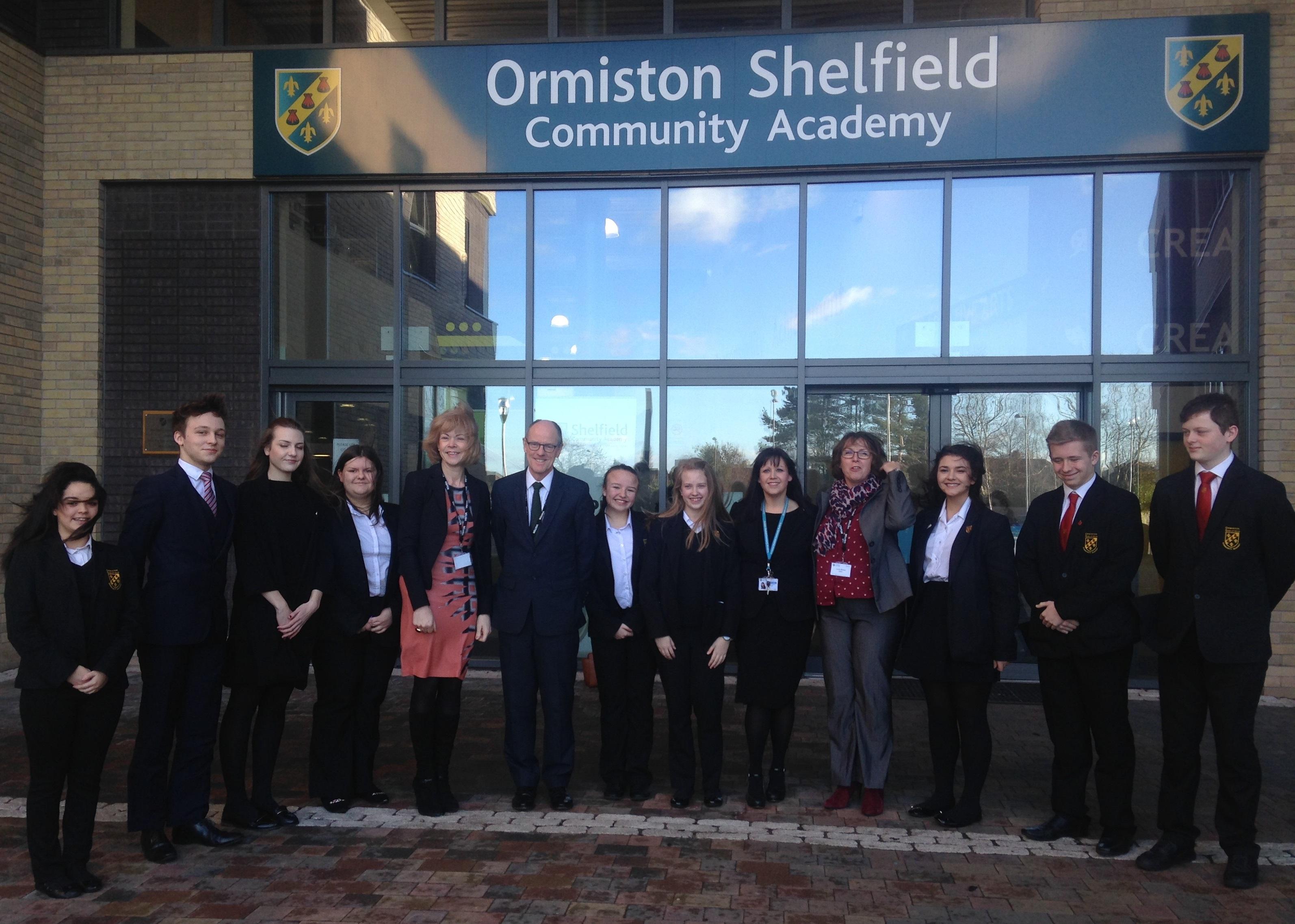 Success as Schools Minister Visits Shelfield