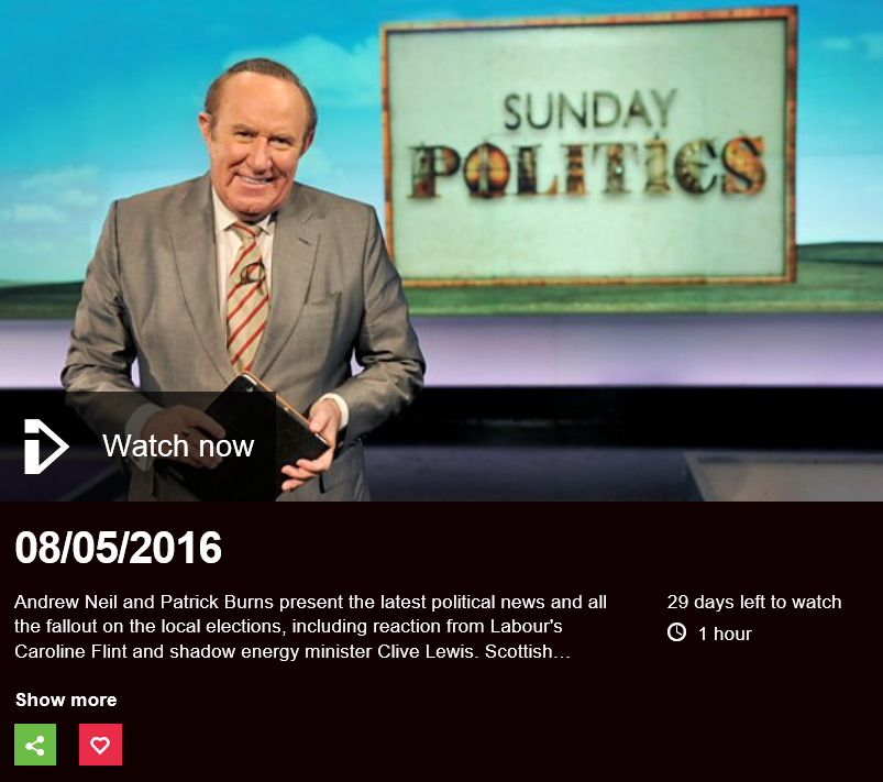 Sunday Politics header image