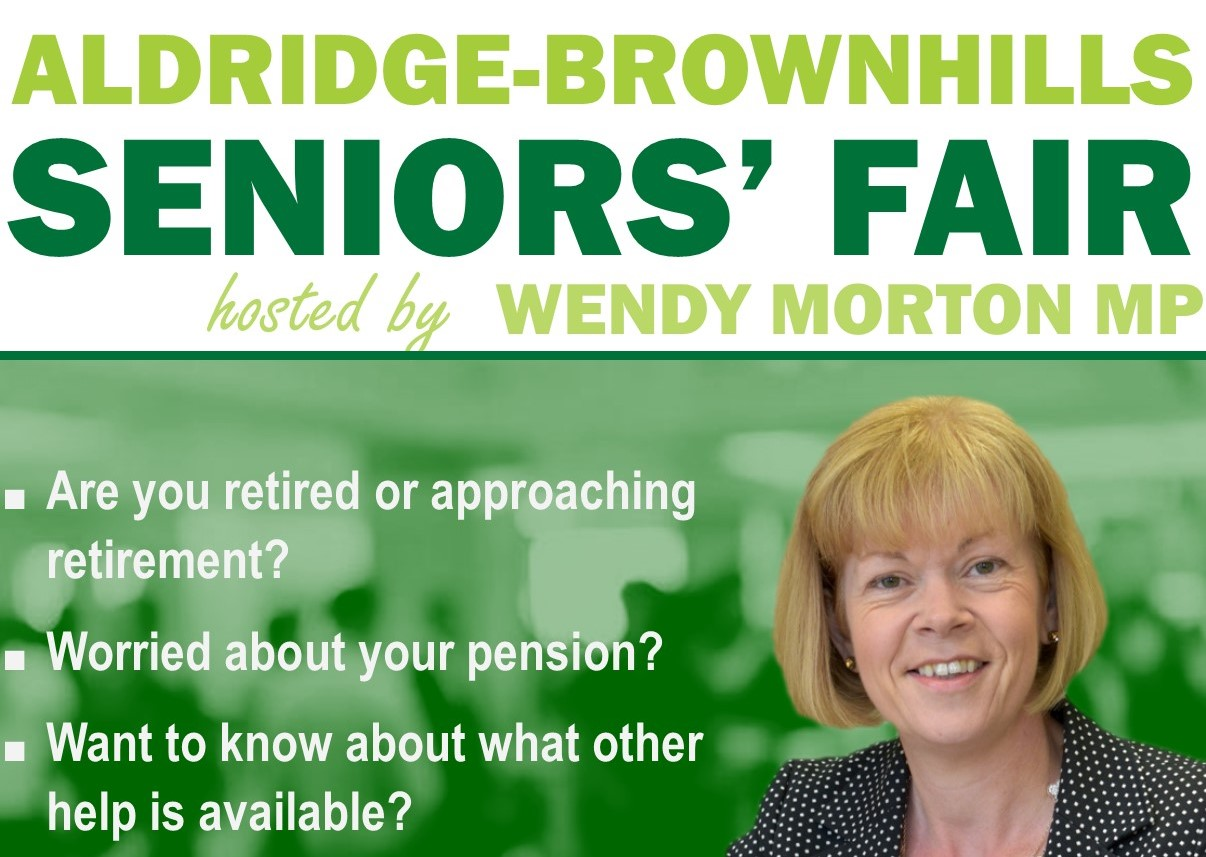 One Week to go until the Aldridge-Brownhills Seniors' Fair