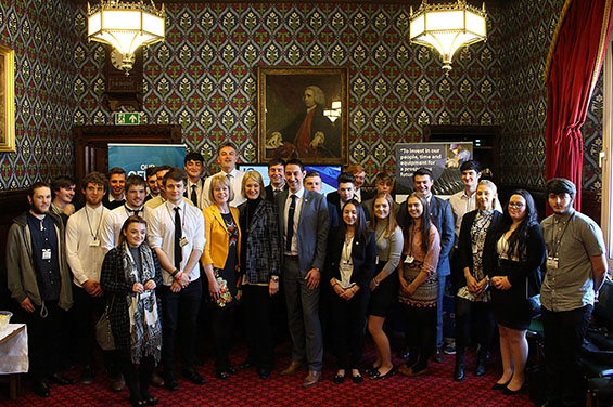 Wendy welcomes local apprentices to Westminster
