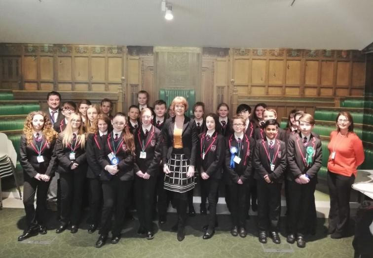 Brownhills School visits Parliament!