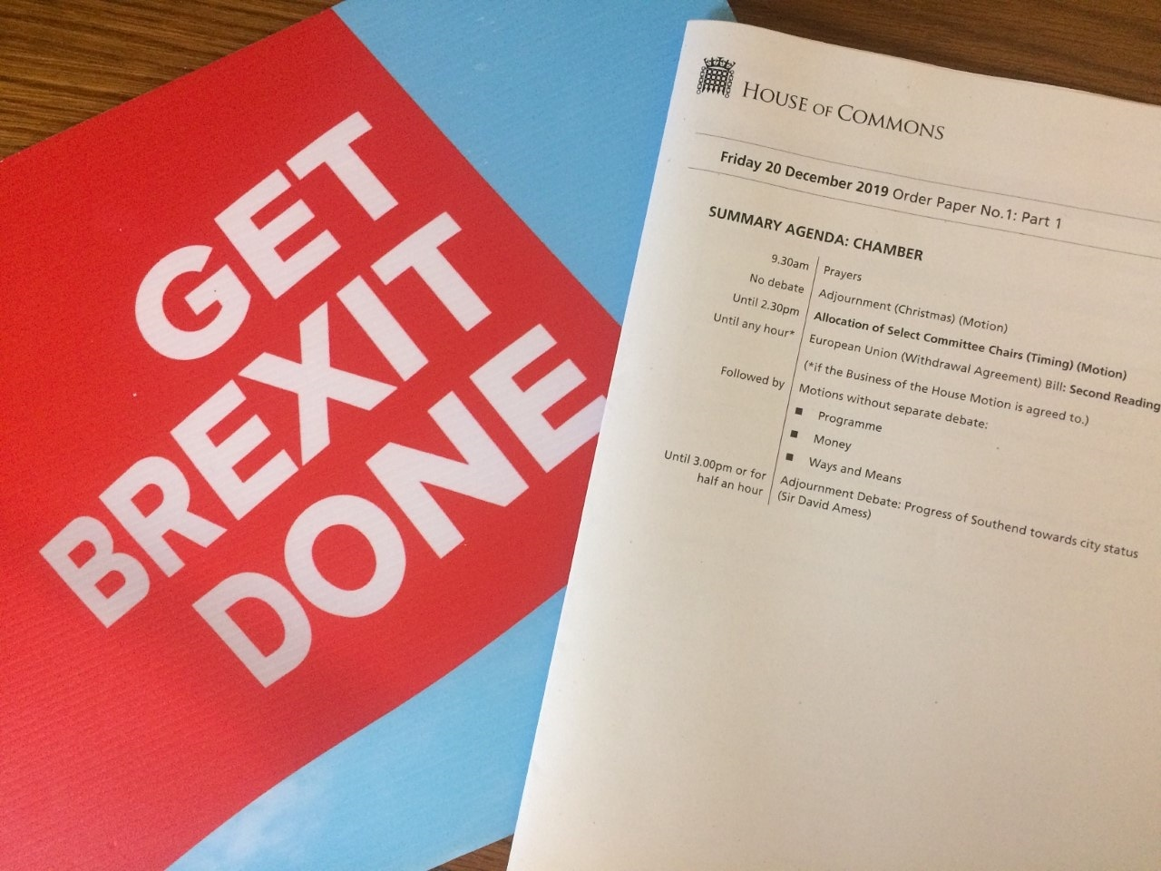 Getting Brexit Done