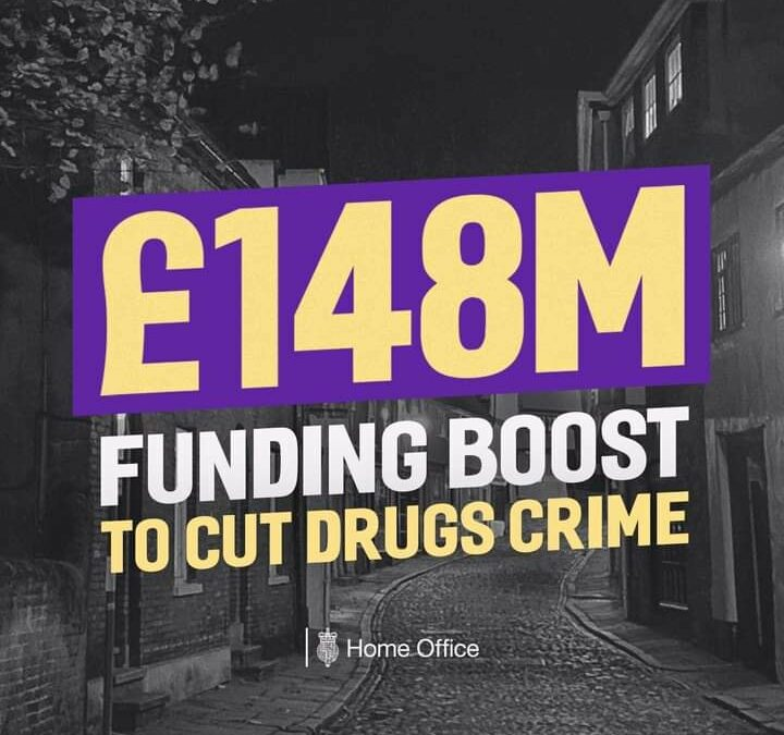 Funding Boost to Cut Drugs Crime!